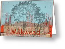 Milkweed Collage Greeting Card