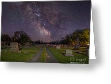 Milky Way Cemetery Greeting Card