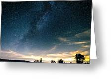 Milky Way During Perseids Greeting Card