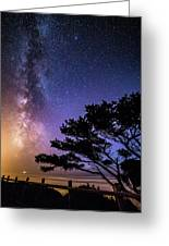 Milky Way In Newport, Or Greeting Card