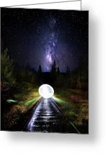 Milky Way Orb Greeting Card