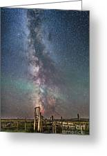 Milky Way Over An Old Ranch Corral Greeting Card