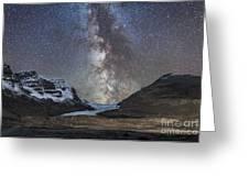 Milky Way Over Athabasca Glacier Greeting Card