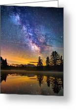 Milky Way Over Coffin Pond  Greeting Card