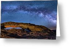 Milky Way Over Mesa Arch Greeting Card