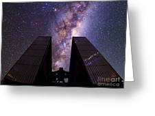 Milky Way Over New Technology Telescope Greeting Card