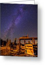 Milky Way Over Old Corral Greeting Card