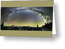 Milky Way Over Yosemite Valley Greeting Card