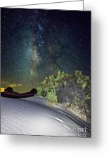Milky Way White Sands Greeting Card