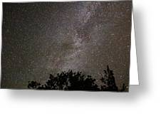 Milky Way With Perseid Meteor Greeting Card