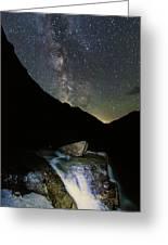Milkyway Over Haystack Greeting Card