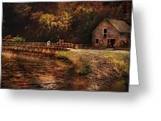 Mill - The Village Edge Greeting Card