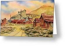 Mill Bodie Ghost Town California Greeting Card