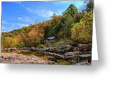 Mill By The Stream Greeting Card