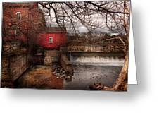 Mill - Clinton Nj - The Mill And Wheel Greeting Card