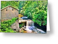 Mill Creek Park Lanterman's Mill And Covered Bridge Greeting Card