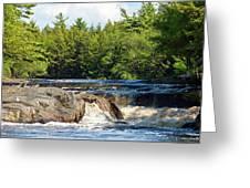 Mill Falls, Kejimkujik National Park, Nova Scotia Greeting Card