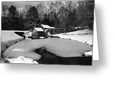 Mill On Ice Greeting Card
