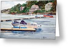 Mill River Gloucester Greeting Card by Peter Sit