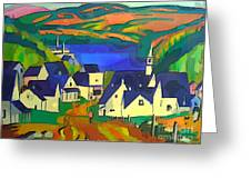Mill Town, Quebec Greeting Card