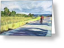 Mill Valley Bike Path Greeting Card