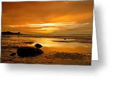 Mill Way Beach Sunset Greeting Card