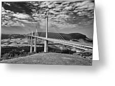 Millau Bridge France Greeting Card