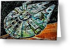 Millenium Falcon Greeting Card