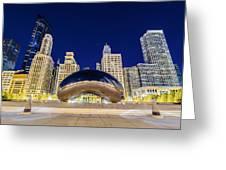 Millenium Skyline Greeting Card by Drew Castelhano