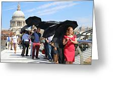 Millennium Bridge And St Pauls Greeting Card