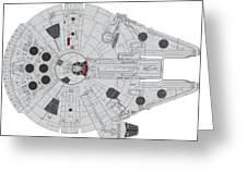 Millennium Falcon II Greeting Card