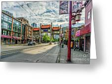 Millennium Gate In Vancouver Chinatown, Canada Greeting Card