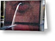 Millennium Park Fountain Chicago Greeting Card