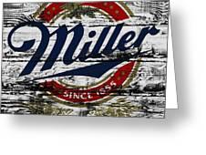 Miller Beer 5b Greeting Card