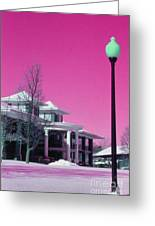 Miller Park Pavilion False Color Ir Number 1 Greeting Card
