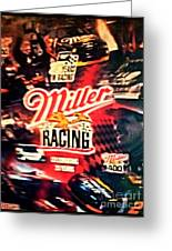 Miller Racing Sign 25th Year Greeting Card