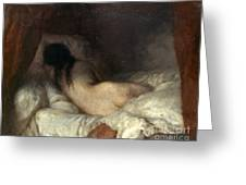 Millet: Reclining Nude Greeting Card