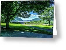Million Dollar View From West Point Military Academy Greeting Card