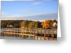 Mills Falls In October Greeting Card