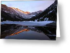 Spring Sunset At Mill's Lake In Rocky Mountain National Park, Colorado, Usa Greeting Card