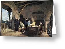 Milton Visiting Galileo Greeting Card