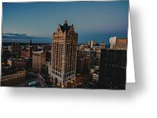 Milwaukee Aerial. Greeting Card