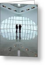 Milwaukee Art Museum Shadows Greeting Card