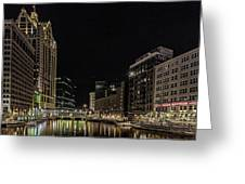 Milwaukee Downriver Greeting Card