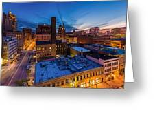 Milwaukee Evening Glimmer Greeting Card