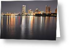 Milwaukee Skyline 2012 Greeting Card