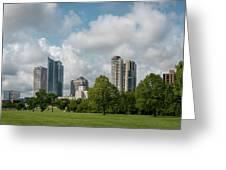 Milwaukee Skyline From Veterans Park 1 Greeting Card