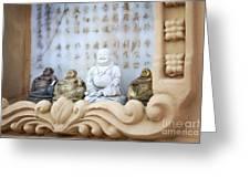 Minature Buddhas Greeting Card