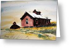 Mine Buildings Southern Cross Ghost Town Montana Greeting Card