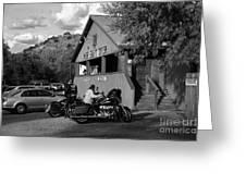 Mine Shaft Bikers Greeting Card